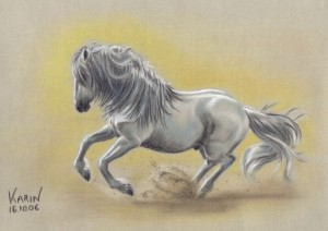 Andalusian pastel drawing