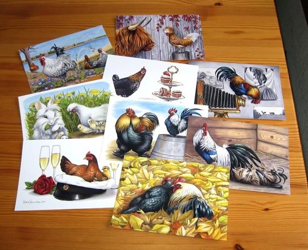 Karin Holmström vykort postikortteja